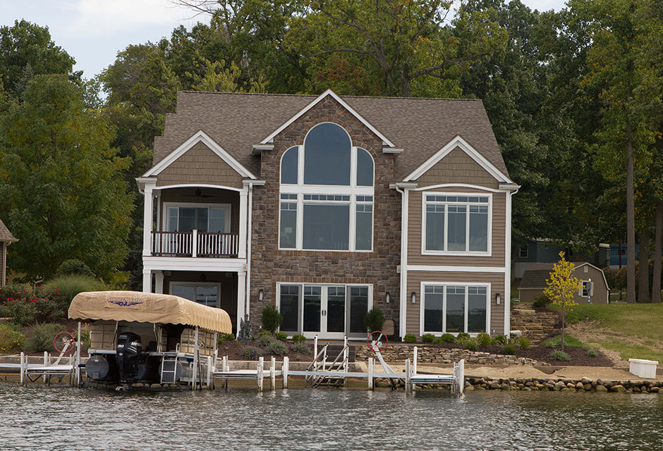 Hamilton lake custom home designs for Custom lake house plans